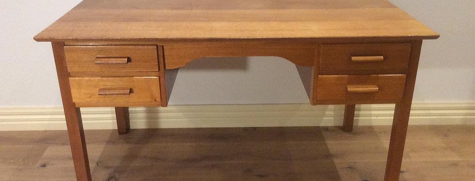 Restored Mid Century Solid Oak Teachers Desk