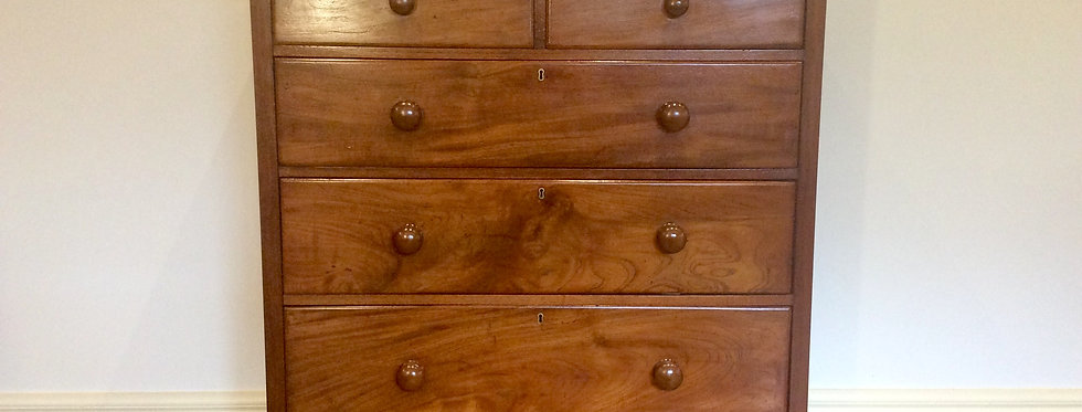 Restored Victorian Five Drawer Cedar Chest Circa 1900.