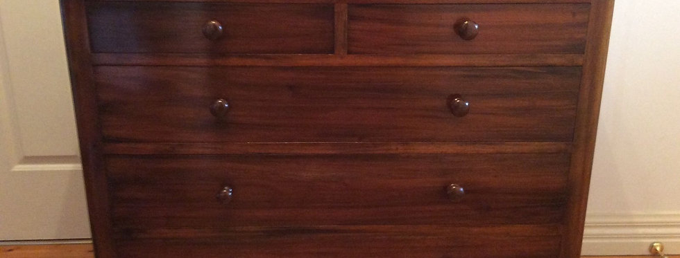 Beautiful Victorian Style Solid Mahogany Chest of Drawers