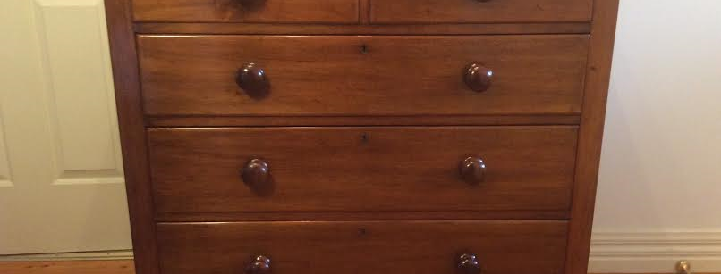 Victorian Cedar Five Drawer Chest. Circa 1880