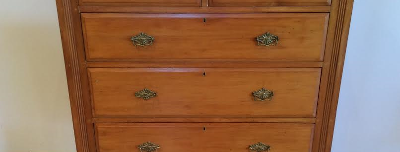 Antique Edwardian Solid Kauri Five Drawer Chest. Circa 1900