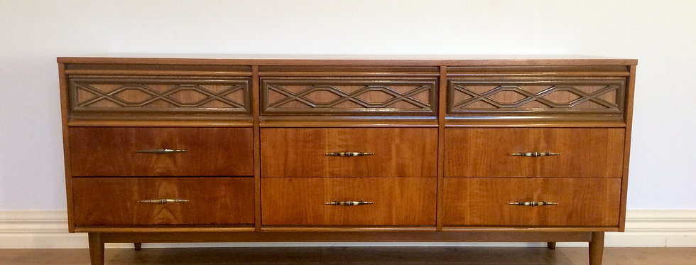 Mid Century Gainsborough Nine Drawer Teak Sideboard..