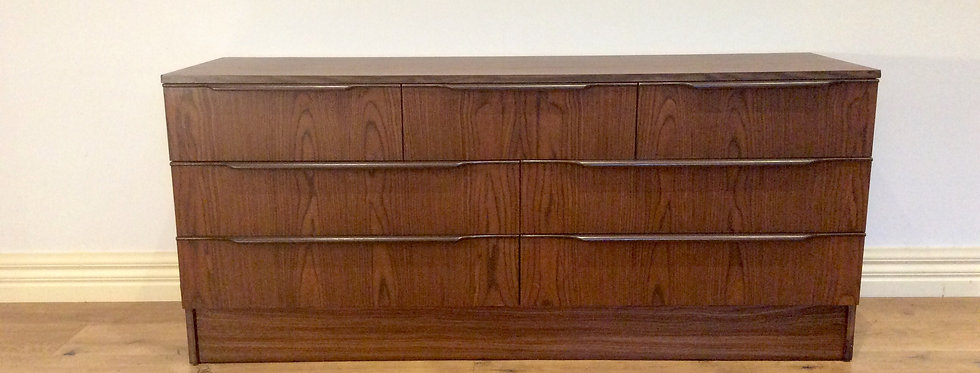 Mid Century Macrob Seven Drawer Sideboard. Circa 1960.