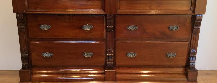 Victorian Mahogany Six Drawer Sideboard