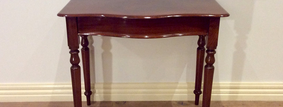 Serpentine Front Victorian Cedar Hall Table. Circa 1900.