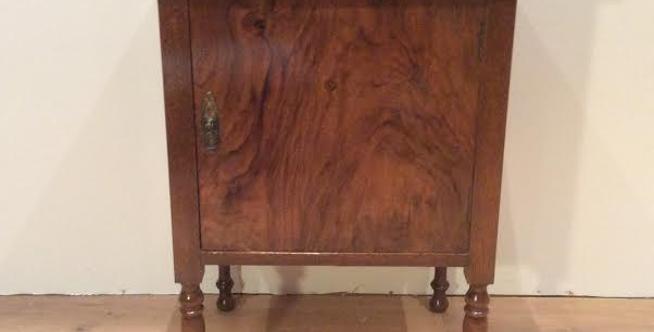 Victorian Burr Walnut Cabinet. Circa 1880