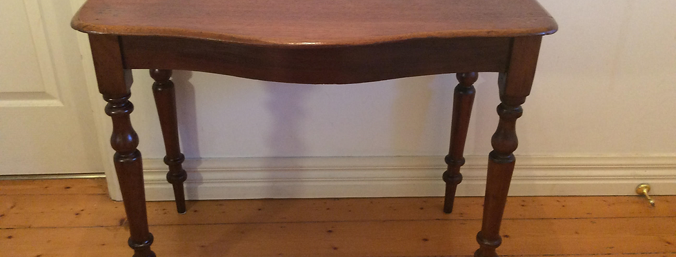 Serpentine Front Victorian Cedar Hall Table