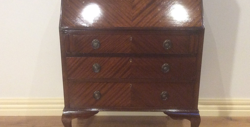 Antique Mahogany Drop Front Secretaire.