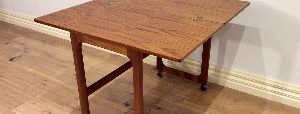 Mid Century McIntosh Tri-form Folding Occasional Table.