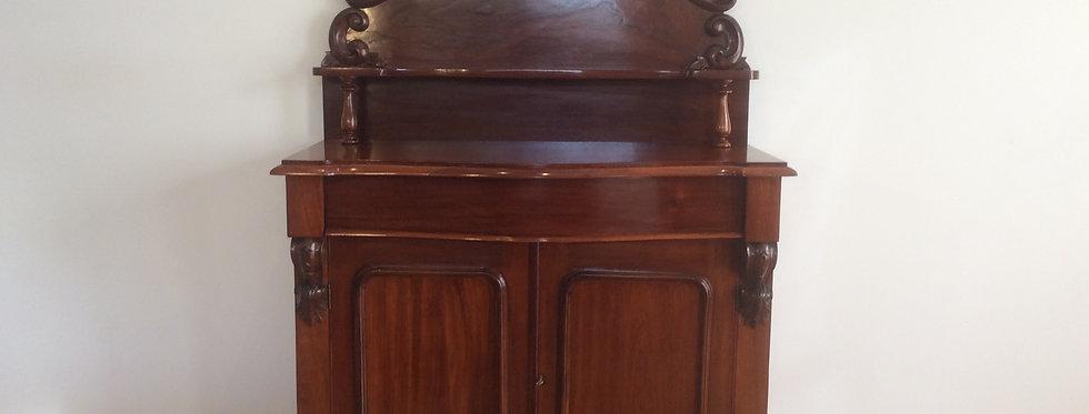 Restored Victorian Cedar Serpentine Front Chiffonier Sideboard. Circa 1880