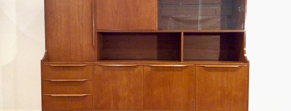 Front Mid Century Teak Sideboard with Cocktail Cabinet.
