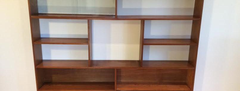 Mid Century Solid Teak Room Divider Bookshelf