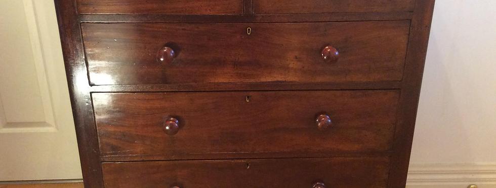 Victorian Cedar Chest of 5 x Drawers