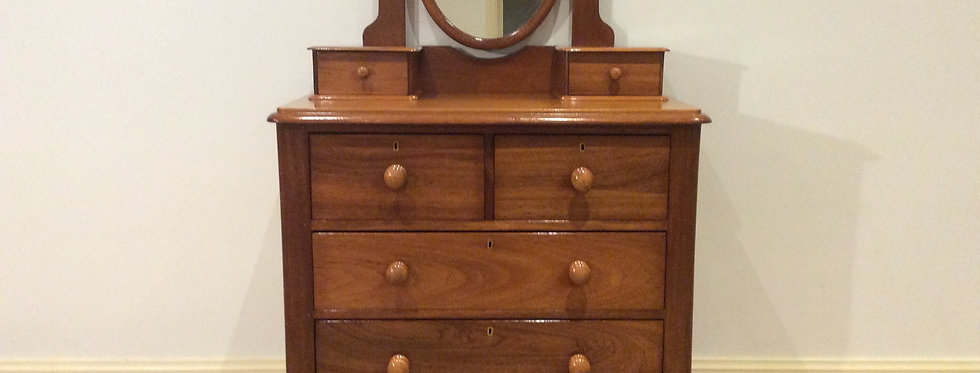 Impeccably Restored Victorian Cedar Six Drawer Duchess Chest