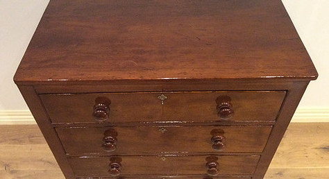 Top View Late Georgian Mahogany Chest of Four Drawers. Circa 1830.