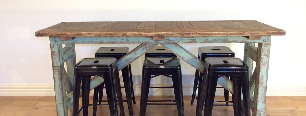Antique Industrial  Kitchen Island Bench. Ex Geelong Paper Mill.