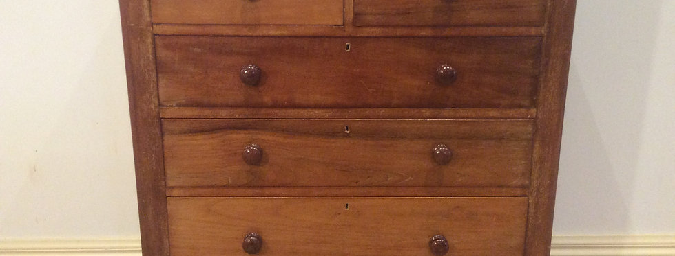 Victorian Cedar Chest of Five Dawers