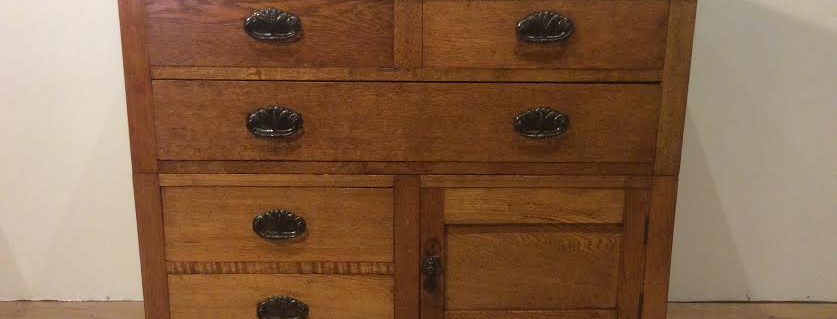 Edwardian Solid Oak Chest of Drawers. Circa 1920