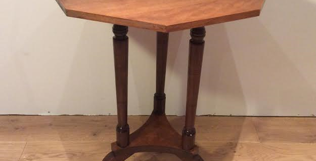 Antique Oak Octagonal Occasional Table