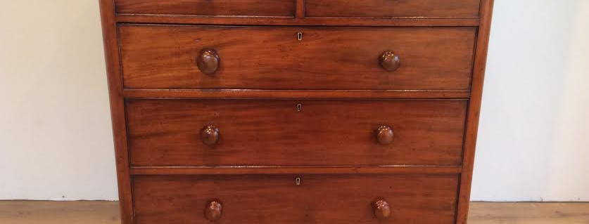 Victorian Cedar Five Drawer Chest