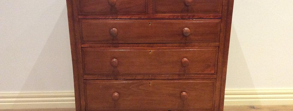 Early Edwardian Five Drawer Cedar Chest.