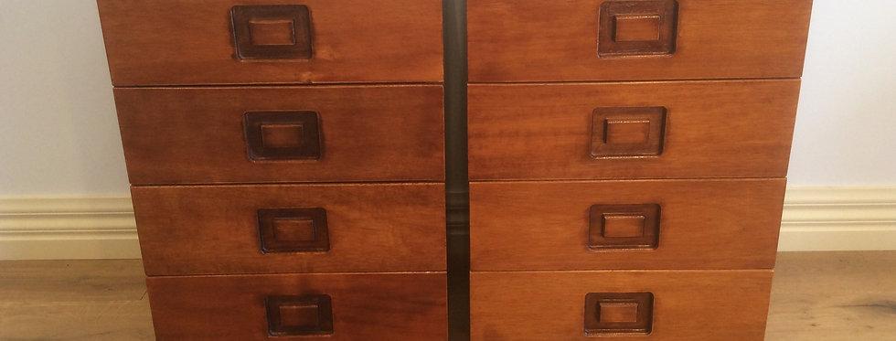 Mid Century Alrob Teak Bedside Cabinets. Stamped 1974.