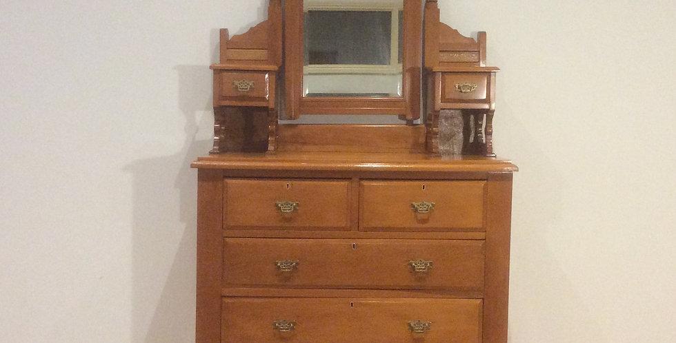 Edwardian Kauri Pine Duchess Dresser