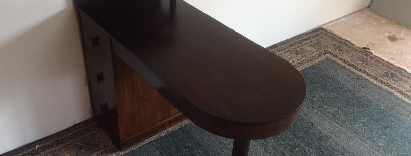 Art Deco Four Drawer Pedestal Desk