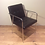 Thumbnail: Italian Designer Leather Dining Chair. Frag Pradamano
