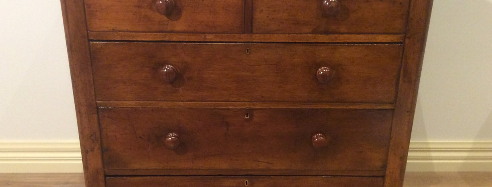 Rustic Victorian Cedar Four Drawer Chest.