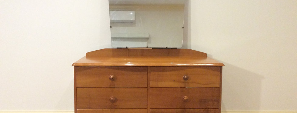 Mid Century Fred Ward Style Tasmanian Myrtle Dressing Table