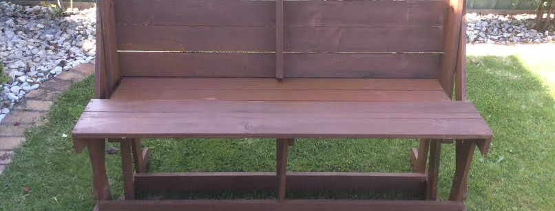 Rare Vintage Solid Oregon Folding Outdoor Setting Bench Seat.
