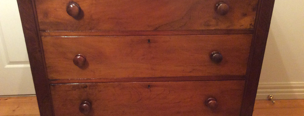 Victorian Cedar Three Drawer Chest