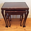Thumbnail: Queen Anne Era Antique Mahogany Nest of Tables with Glass Inserts