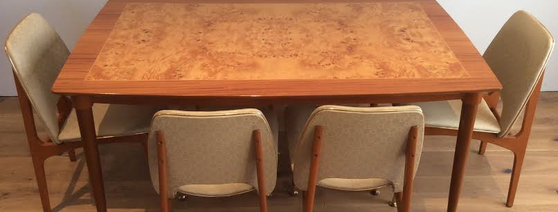 Mid Century Danish Inspired Teak Dining Table in Flawless Condition