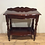 Victorian Style Solid Mahogany Serpentine Front Hall Table.