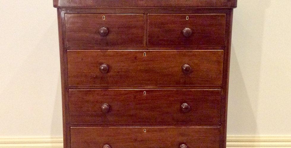 Restored Five Drawer Victorian Cedar Chest