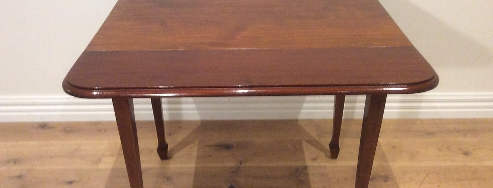 Solid Blackwood Drop Side Dining Table