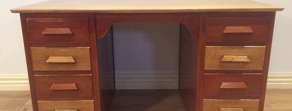 Mid Century Teak & Oak Partners Desk. Circa 1950
