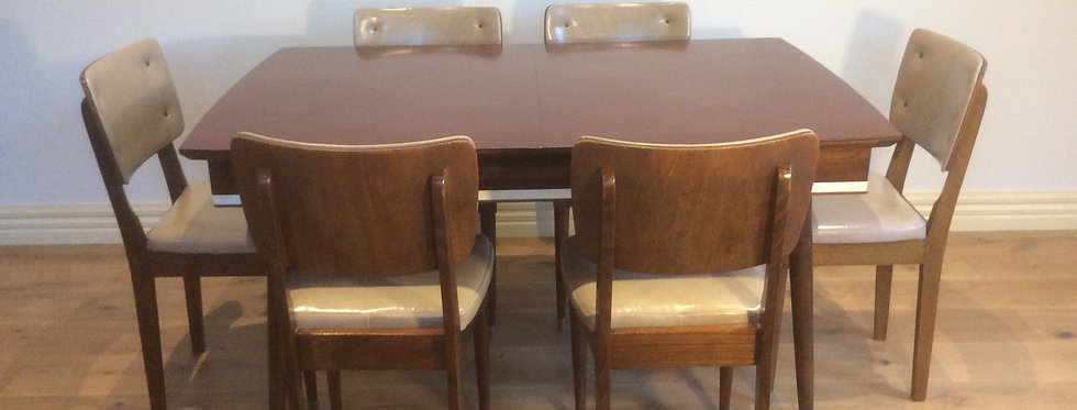 Mid Century Modertone Blackwood Dining Table and Chairs