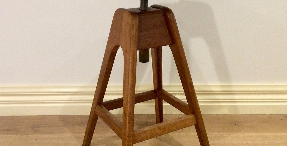 Mid Century T. H Brown Adjustable Height Stool.