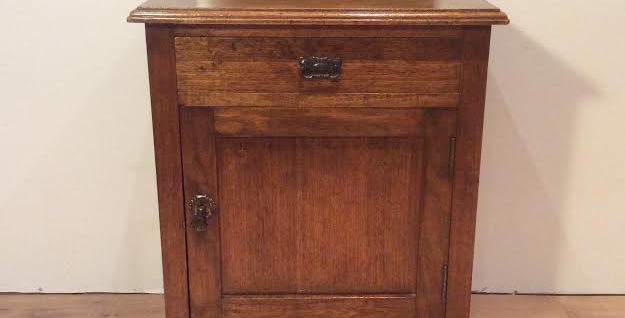 Restored Edwardian Walnut Pot Cabinet