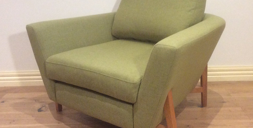 Large Mid Century Modern Agem Tub Chair with Warwick Fabric.