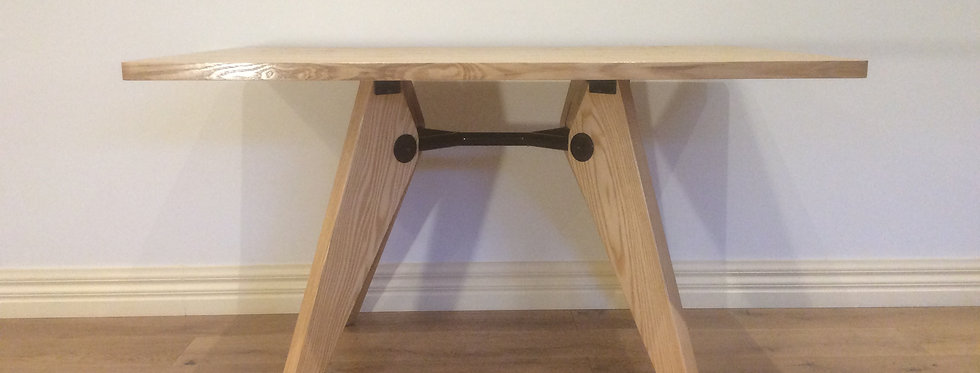 Mid Century Replica Jean Prouve Natural Ash Dining Table. RRP $595.