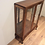 Antique Glass Panel Display Cabinet with Cabriolet Legs.