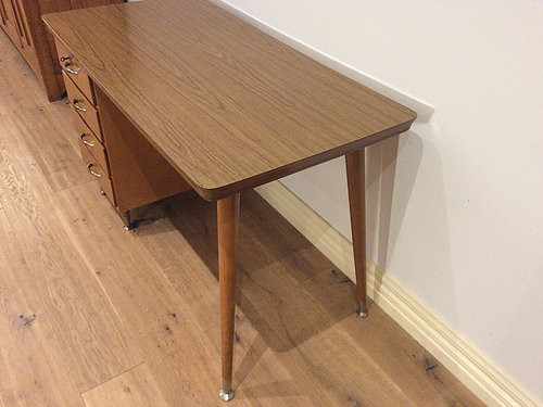 Right Side View Mid Century Desk
