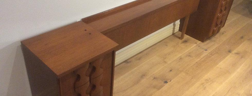 Mid Century Burgess Teak Bedside Cabinets