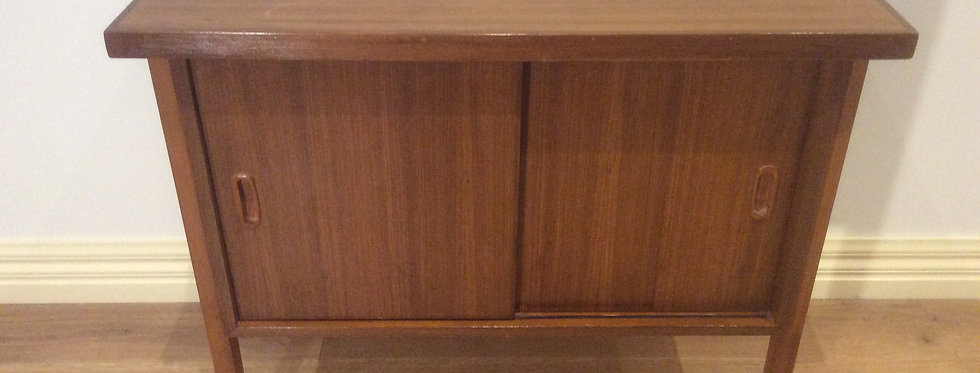 Mid Centuty Teak Office Credenza Front