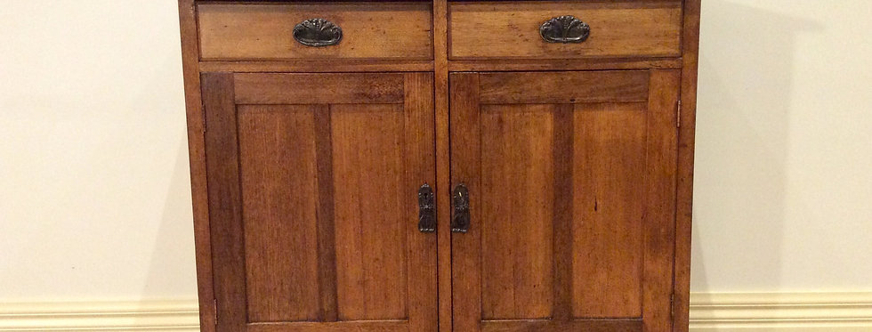 Silky Oak Arts & Crafts Two Door Two Drawer Sideboard. Circa 1900.
