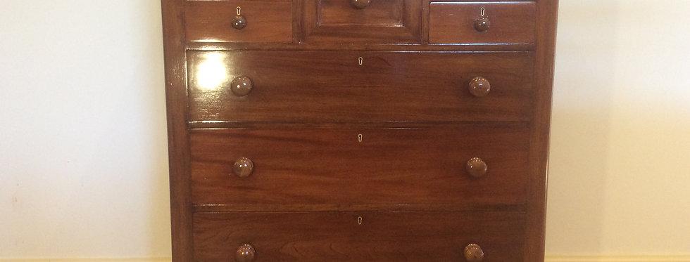 Impeccably Restored Victorian Cedar Seven Drawer Chest